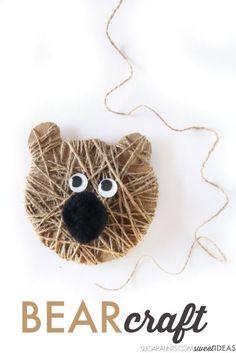 Kids can make this bear craft Christmas ornament based on Karma Wilson's popular Christmas book, Bear Stays Up for Christmas. Kids Crafts, Animal Crafts For Kids, Craft Activities For Kids, Christmas Activities, Summer Crafts, Toddler Crafts, Preschool Crafts, Yarn Crafts, Art For Kids