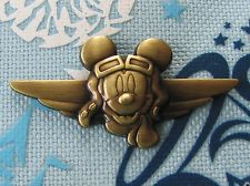 Disney Trading Pin - Mickey Mouse Aviator Bronze Pilot Wings Flying - 45201