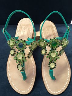 Via Capri, 34 is a luxury line of custom handmade sandals from Capri. Via Capri, 34 is located in Palm Beach on Worth Avenue. Women's Flats, Flat Sandals, Emerald City, Different Styles, Capri, Pasta, Handmade, Travel, Shoes
