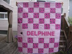 Delphine baby quilt July 22, 2015