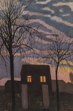 Léon Spilliaert - Maison au crépuscule (1921)