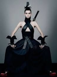Meghan Collison is photographed by Fabien Baron and styled by Karl Templer in 'Honor' for Interview October/November 2012 - meghan collison fabien baron fashion karl templer samurai ninja katana hakama kimono Dark Fashion, Gothic Fashion, Fashion Art, Editorial Fashion, High Fashion, Fashion Design, Fashion Clothes, Style Fashion, Magazine Editorial