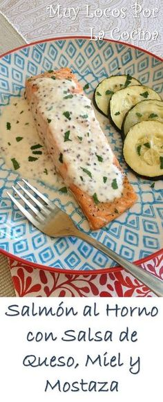 * Baked Salmon with Cheese, Honey and Mustard Sauce Salmon Pasta, Baked Salmon, Salmon En Salsa, Good Healthy Recipes, Healthy Snacks, No Dairy Recipes, Cooking Recipes, Detox Diet Drinks, Deli Food