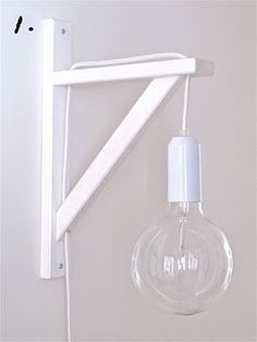 Hanging bulb lamp. It's becoming my favorite light fixture (as if I had a favorite light fixture before...)