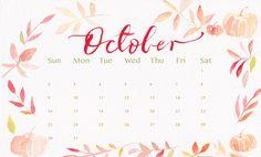 Check out Cute October 2018 Calendar, Floral October 2018 Calendar, October 2018 Wall Calendar, October 2018 Calendar Designs, October Calendar Background ...