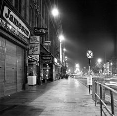 O'Connell St, by night, or Dublin Street, Dublin City, Ireland Homes, City Council, Dublin Ireland, Back In The Day, Old Photos, Paths, History