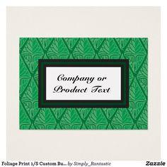 Foliage Print 1/S Custom Business/product card
