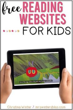 Here's a list of 11 free reading websites for kids! Download a free list of linked online reading sites to help your students practice reading at school or at home!