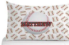 Baseball Pillow Case Pillow Cover Kids Bedroom by Kids Pillows, Animal Pillows, Throw Pillows, Personalized Pillow Cases, Custom Pillow Cases, Kids Bedroom, Bedroom Decor, Animals For Kids, Pillow Covers
