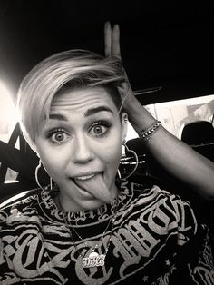 Miley Cyrus #tongue