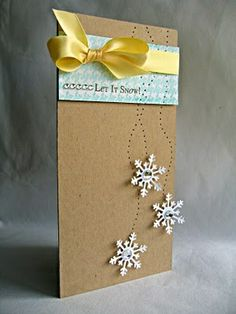 Snowflakes| http://cutegreetingcards.blogspot.com