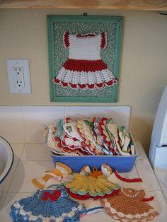 Crocheted Potholders by treasureup, via Flickr
