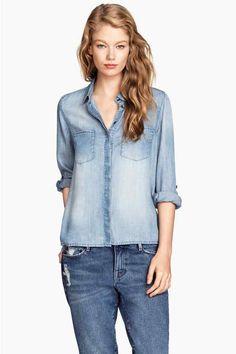 Camicia di jeans in lyocell   H&M
