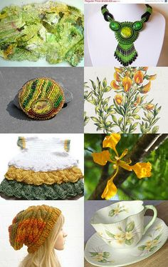 Green and yellow Spring  by Anna Narya Gąsiorowska on Etsy--Pinned with TreasuryPin.com