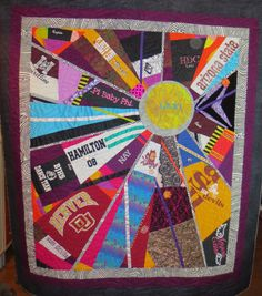 T-shirt quilt by Quiltmama.