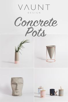We love concrete pots and concrete accessories. Concrete pots have always been a popular choice for displaying botanicals however, we believe we've curated a selection of concrete homewares that are just a little different from the norm. Concrete Plant Pots, Concrete Planters, Concrete Wall, Concrete Crafts, Concrete Projects, Concrete Design, Bathroom Accesories, Natural Wood Flooring, Boho Diy
