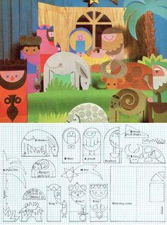 Presepe di cartone: idee fai da te - Come fare i personaggi di cartone per il presepe