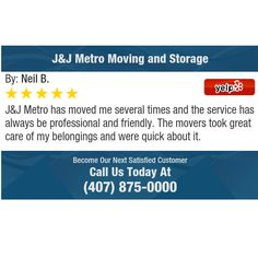 J&J Metro has moved me several times and the service has always be professional and...