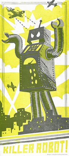 Killer Robot! poster by Firecracker Press