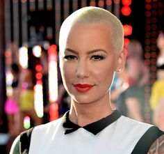 Amber Rose's shaved head
