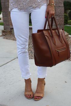 Tan Lace   Crisp Whites