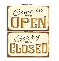Open Closed Sign Vintage style Open Closed by ClassicMetalSigns Closed Signs, Open Signs, Bar Signs, Shop Signs, Open Close Sign, Roadside Signs, Sign Solutions, No Soliciting Signs, Shabby
