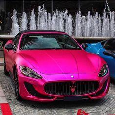 Hot or Not? #ItsWhiteNoise #Maserati #PrettyInPink @exoticars_sg