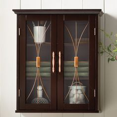 "Elegant Home Fashions Delaney 20.5"" W x 24"" H Wall Mounted Cabinet"