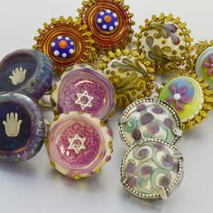 Personal Tallit Clips to match your own Tallit design  by TalGlass