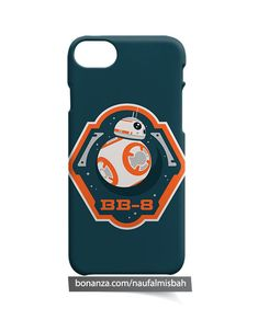 BB8 BB-8 Star Wars Minimalist iPhone 5 5s 5c 6 6s 7 8 + Plus X Case Cover