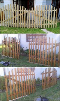 Stunning and Inspired Wood Pallets Reusing Ideas: You might have some old wooden pallets in your house, but have you ever thought about using it for some effective purposes of home. Pallet Crafts, Diy Pallet Projects, Wood Projects, Pallet Ideas, Backyard Projects, Outdoor Projects, Backyard Patio, Diy Fence, Fence Ideas