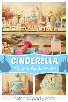 Don't miss this gorgeous Cinderella birthday party! The birthday cake is amazin… Don't miss this gorgeous Cinderella birthday party! Disney Princess Birthday Party, Girls Birthday Party Themes, Cinderella Birthday, Birthday Games, Girl Birthday, Birthday Parties, Birthday Ideas, Princess Invitations, Party Activities