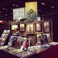Pete Mohrbacher's Angelarium booth at C2E2 #angelarium