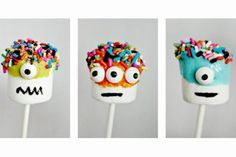 Crafting with Kids: Monster Marshmallow Pops...These are ADORABLE (and simple!)