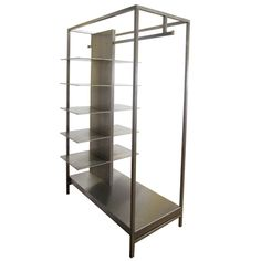 Solid Steel Closet Display Or Organizer | From a unique collection of antique and modern shelves at http://www.1stdibs.com/furniture/storage-case-pieces/shelves/