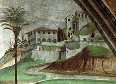 Villa medici a fiesole (dettaglio), dormitio virginis domenico ghirlandaio cappella tornabuoni SMN - Villa Medici (Fiesole) -…