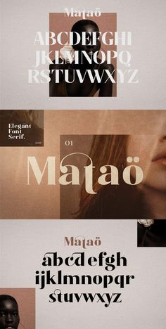 Mataö - Elegance Font Serif Mataö is bold, gorgeous headlines and elegant designs with a vintage and classic flair. Mataö contrasting lines and curved terminals Font Design, Graphic Design Fonts, Web Design, Type Design, Elegant Logo Design, Elegant Designs, Lettering, Typography Letters, Typography Poster