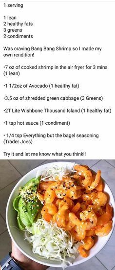 Clean Eating Recipes, Diet Recipes, Cooking Recipes, Healthy Recipes, Lean Protein Meals, Lean Meals, Healthy Fats, Healthy Eating, Lean And Green Meals