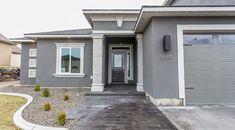 Exterior Stucco Colors Ideas Inspirations Modern Nice Grey House Exterior Stucco Colors That Can Be Decor With Grey Popular Exterior Stucco Paint Colors Best Exterior Paint, Exterior Paint Colors For House, Paint Colors For Home, Exterior Colors, Paint Colours, Exterior Design, Stucco Homes, Stucco Exterior, Modern Exterior