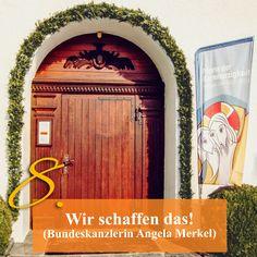 ZItat zum Advent von Kanzlerin Angela Merkel, Kirchentüre: Schönstatt-Zentrum Aulendorf in Baden-Württemberg