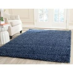 Safavieh California Shag Navy 6 ft. 7 in. x 9 ft. 6 in. Area Rug-SG151-7070-7 - The Home Depot