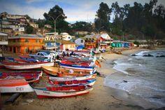 Caleta de pescadores, Chile