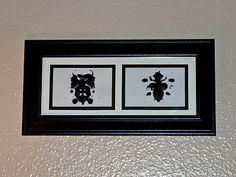 Ink Blot Framed Art