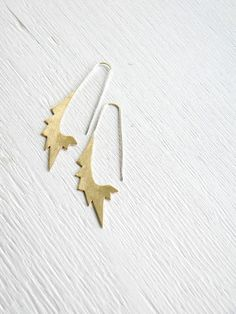 Big Star Oval Hoops  handmade brass and sterling silver by alibli