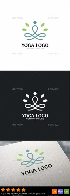 Yoga Logo by GoldenCurve Editable CMYK color ready to print,included : Ai Cs Eps 10 CorelDraw Cdr Help. Yoga Logo, Gym Logo, Logo Design Template, Logo Templates, Clover Logo, Best Logo Design, Graphic Design, Design Design, Green Logo