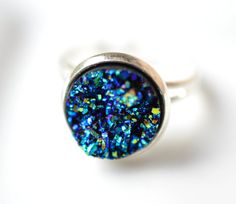 Hey, I found this really awesome Etsy listing at https://www.etsy.com/listing/205298974/blue-druzy-ring-gypsy-jewelry-boho-ring