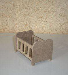 Cama de grades em miniatura para diorama, roombox ou outras aplicações