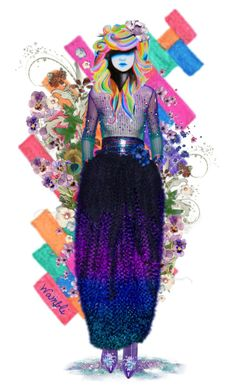 """Wambli Floral"" by wambliwakan on Polyvore featuring art"
