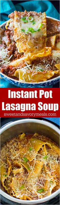 Best Instant Pot Lasagna Soup is such an easy and flavorful meal made in the Instant Pot with ground beef, Italian spices and a tasty tomato broth.