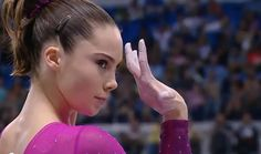 So, if you didn't already know, this is our girl McKayla. McKayla's flawless vault (the judges were egregiously wrong by not giving her a perfect score) stole the show at the women's gymnastics team final.